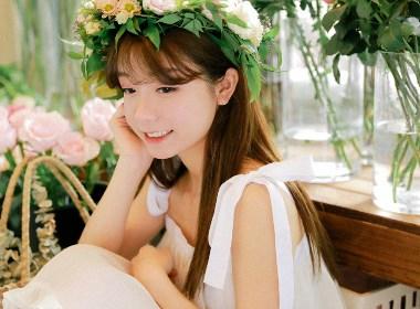 花与少女—人像摄影