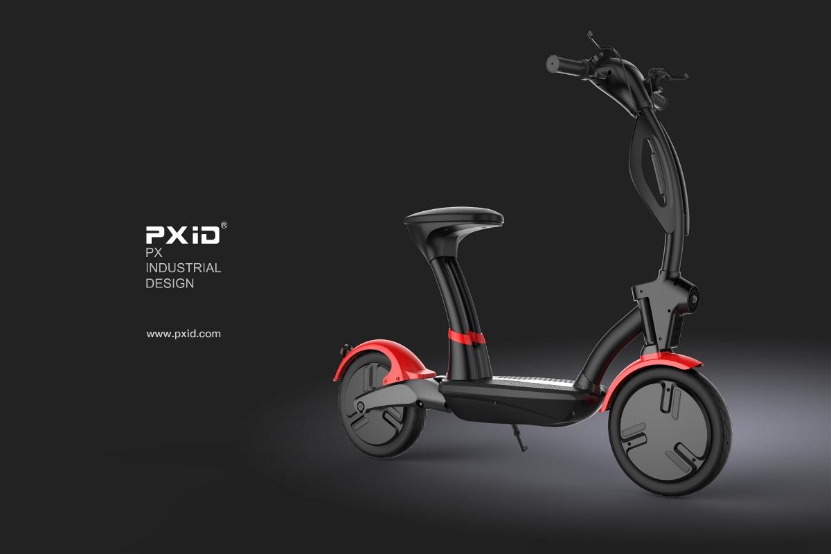 电动滑板车设计,滑板车设计,平衡车设计,老年代步工具设计,pxid,品向