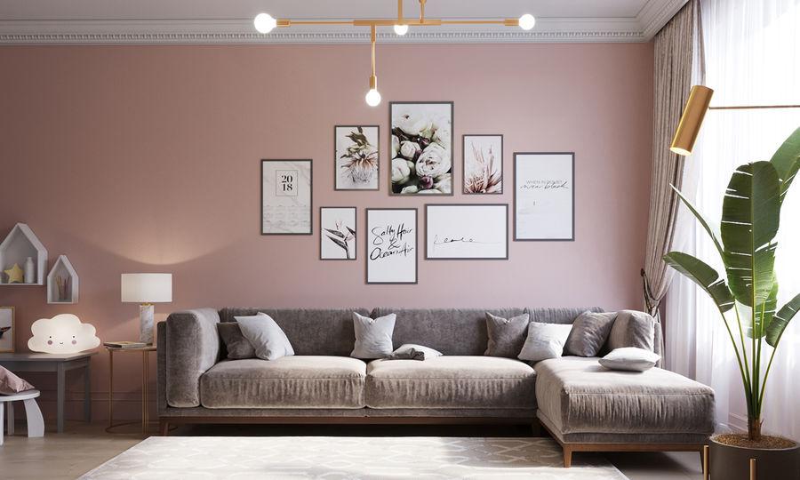 粉红色室内表现