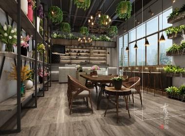 主题咖啡馆设计案例赏析:成都花艺咖啡馆|古兰装饰