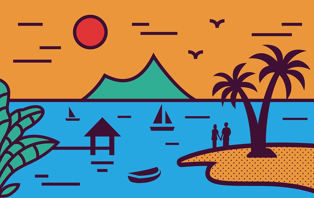 【海岛故事】椰子油海产品logo/包装设计