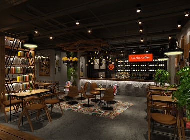 成都主题咖啡厅设计赏析:成都Orange Coffee橙子咖啡厅