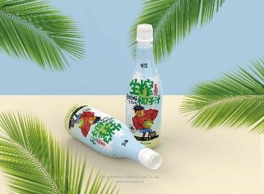 椰花香生榨椰汁品牌与包装设计
