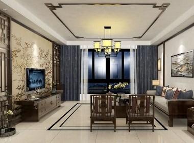 客厅电视背景墙设计案例效果图