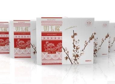 如玉棉品牌包装设计(西安渡岸创意www.duanad.com)