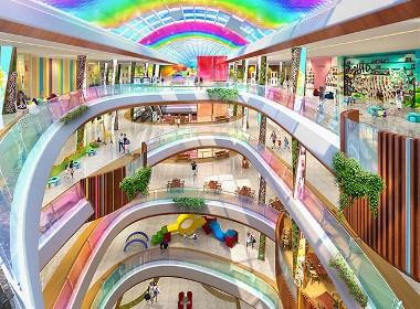 梧州购物中心装修设计可参考的体验型购物中心设计效果图