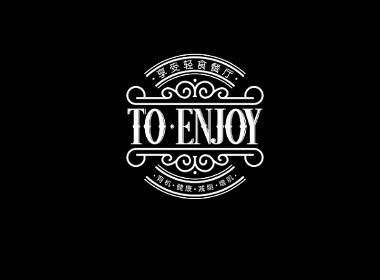《享受轻食餐厅》logo设计