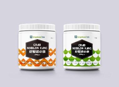 生物鱼药包装瓶贴设计
