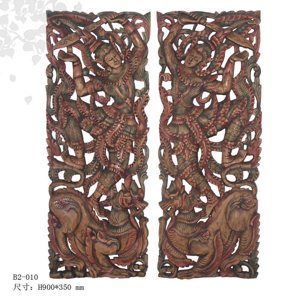 浓郁的泰国异域风情--手工雕花板