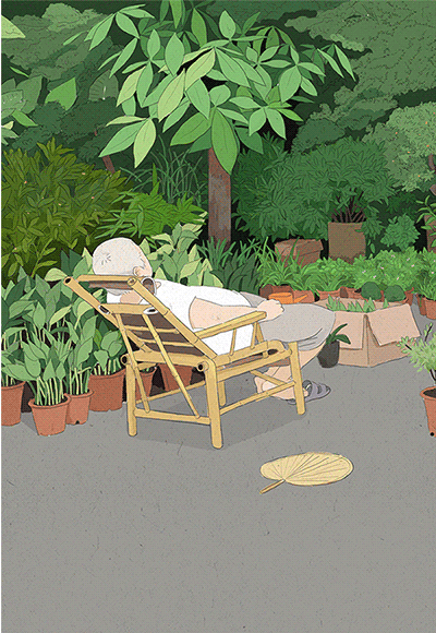 (插画欣赏)记忆中的夏天~熟悉的场景