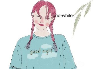 one-white-