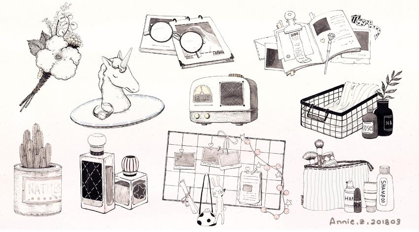 一些美好生活插画