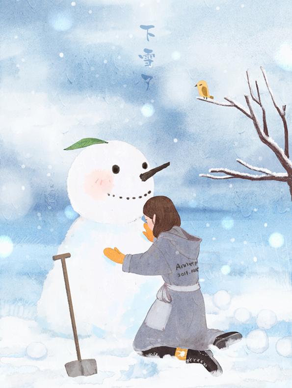 冬季日常插画欣赏