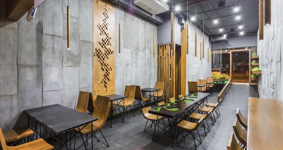 重庆小饭店装修设计不同风格效果图-观景装饰