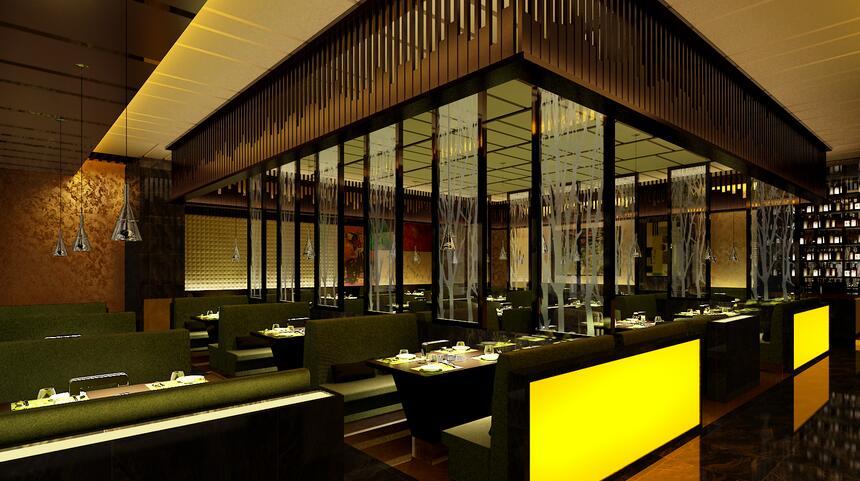 重庆烤鱼店装修设计案例效果图片-观景装饰