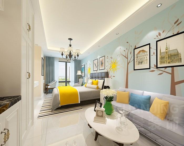 重庆公寓式酒店装修设计效果图案例重庆观景装饰