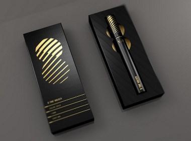 笔包装设计黑色系列