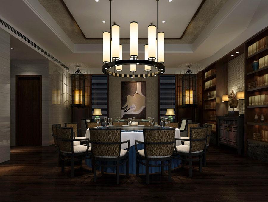 吊灯 中式 花格 大包间 大餐厅 高档餐厅 复古餐桌 复古装饰 饭店