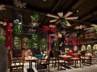 成都咖啡厅装修设计赏析:南昌甜甜雪冰咖啡厅|古兰作品