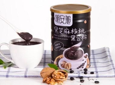黑芝麻核桃黑豆粉 罐装设计