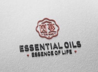 茵曼精油肤护品标志VI品牌形象设计