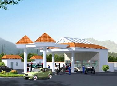 加油站设计案例效果图