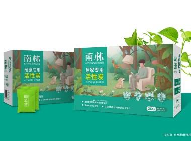 四喜品牌设计南林活性炭品牌logo与包装设计升级