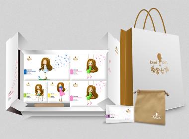 邻家女孩_卫生巾包装设计_卫生用品包装设计—恩加品牌策划设计案例