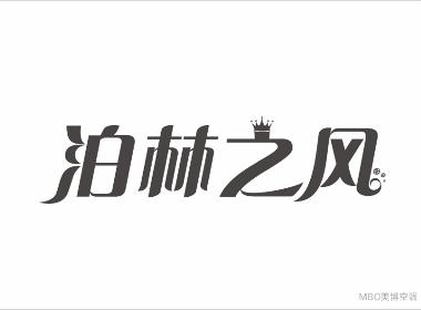 泊林之风 空调字体设计