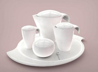 蜗牛仿生茶具设计