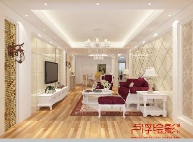 简欧家装效果图,比较适用于别墅、住宅,简单看一下,微信:18531282550