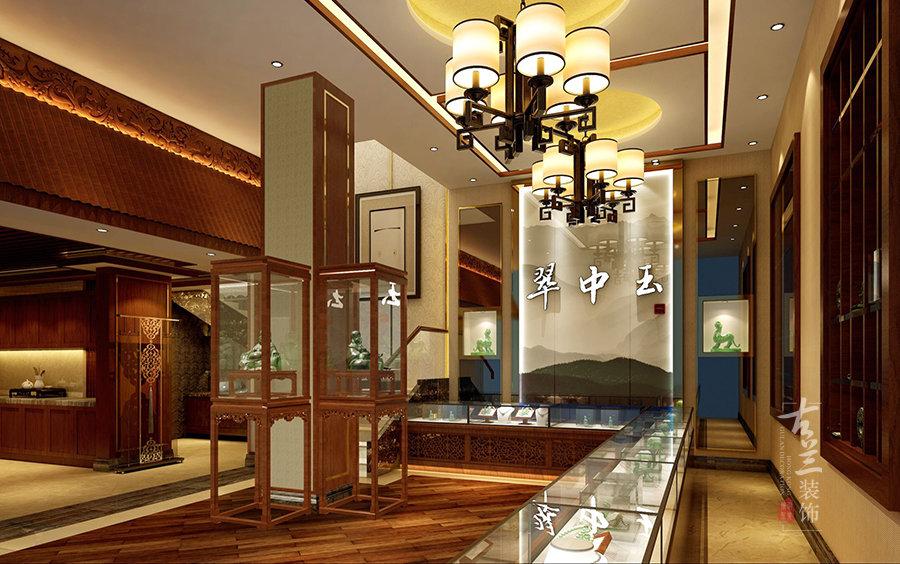 中式会所式装修风格珠宝店设计文案-成都专业珠宝店装修设计公司,古兰