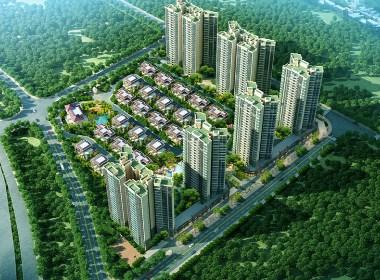 城市住宅小区设计案例效果图