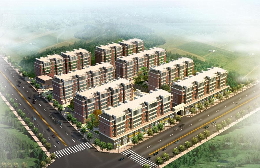 高档小区 城市楼盘 小区环境 园林绿化 楼盘-城市住宅小区设计案例效