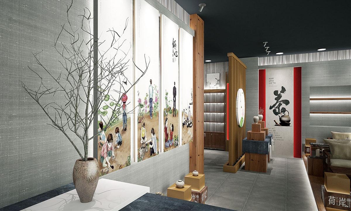 荷岸茶室与专卖店——徐桂亮品牌设计