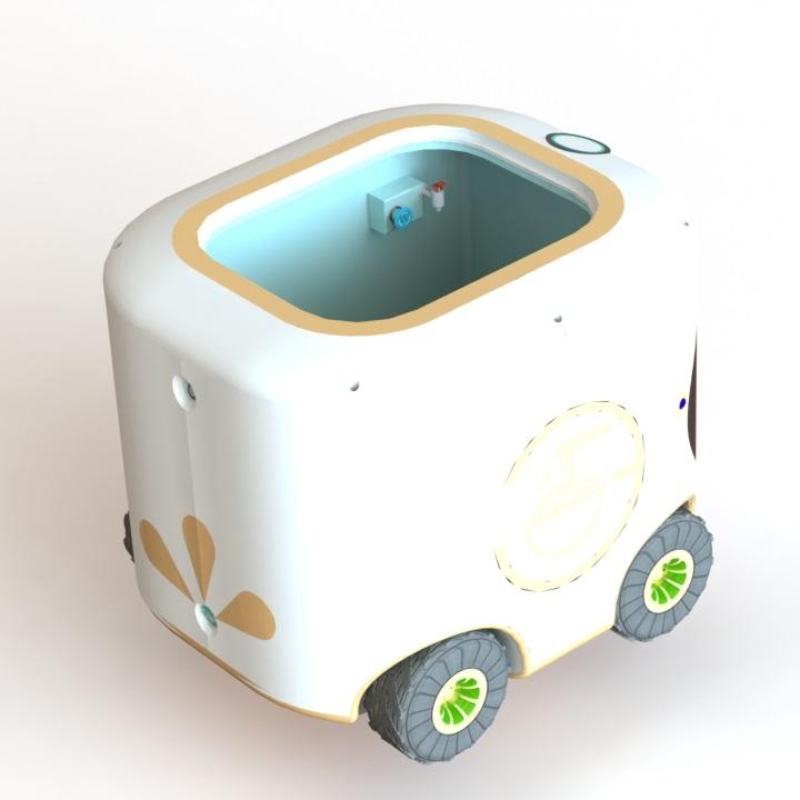 """""""凡"""" - 外卖机器人 (""""FAN"""" - Fast food robot) 设计"""