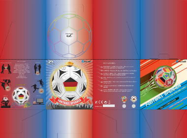 外销足球音响设计 与包装设计