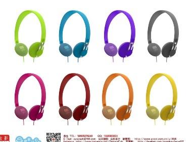 小豌豆女款时尚耳机设计 马卡龙 个性配色 靓丽色 女款色 经典色