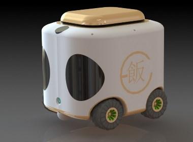 """凡"" - 外卖机器人 (""FAN"" - Fast food robot) 设计(欢迎有意合作者来电)"