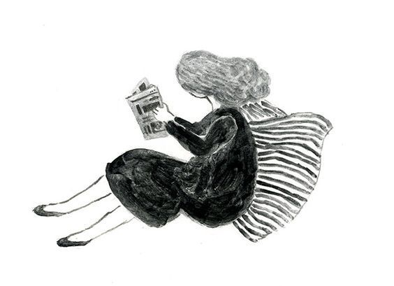艺术家单色插画欣赏