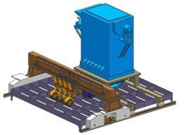 钛合金复合钢板打磨机