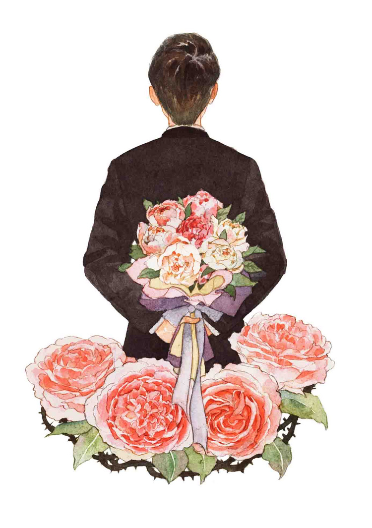 男孩子水彩插画欣赏
