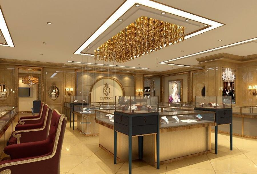 珠宝店设计案例效果图图片