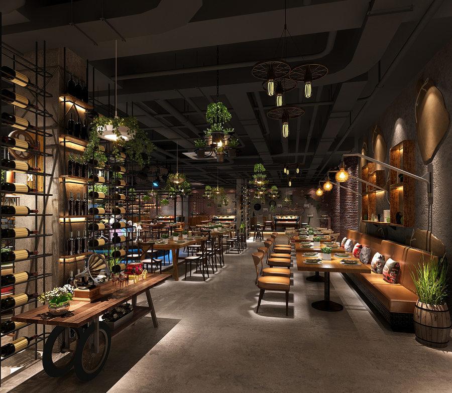 胡桃里风音乐餐吧设计|四川餐吧餐厅装修设计|成都餐吧装修设计公司