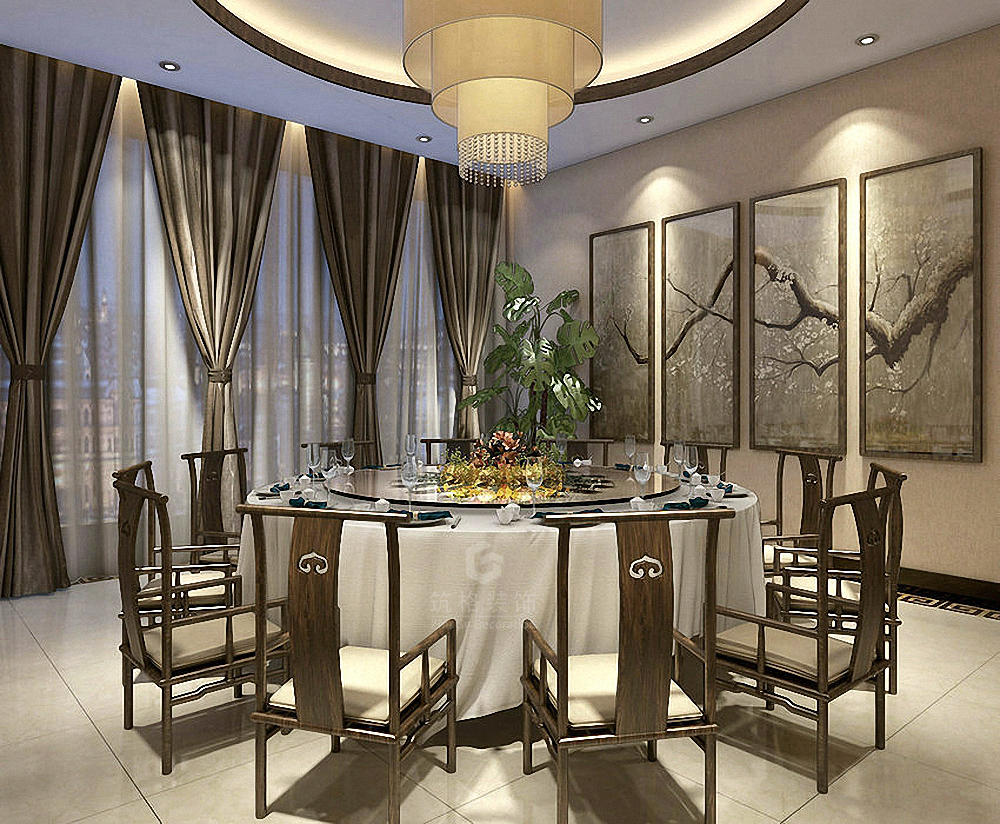 1 1酒楼丨成都餐厅设计丨酒楼设计装修丨筑格装饰