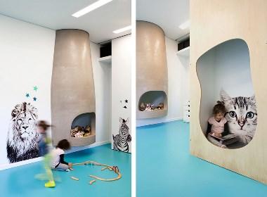动物王国幼儿园——成都幼儿园装修设计公司案例赏析|古兰装饰作品