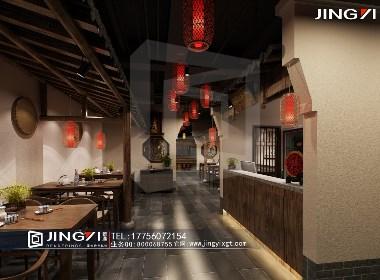 景逸效果图设计——工装中式餐厅