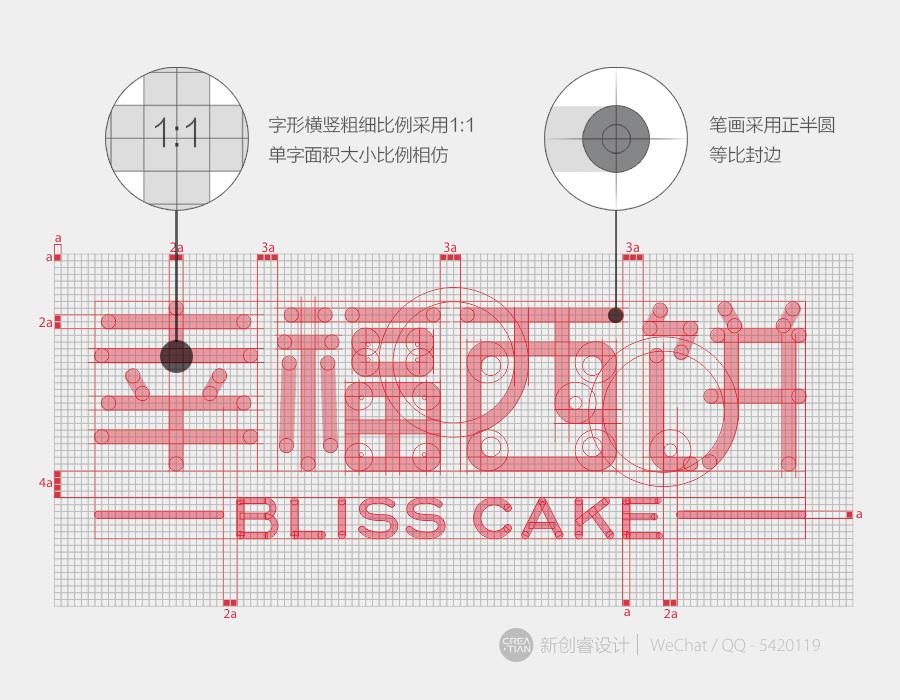 幸福西饼品牌VI设计-来自新创睿