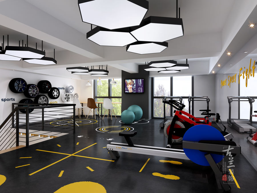 成都健身工作室装修设计|成都健身房装修设计|逸格健身工作室