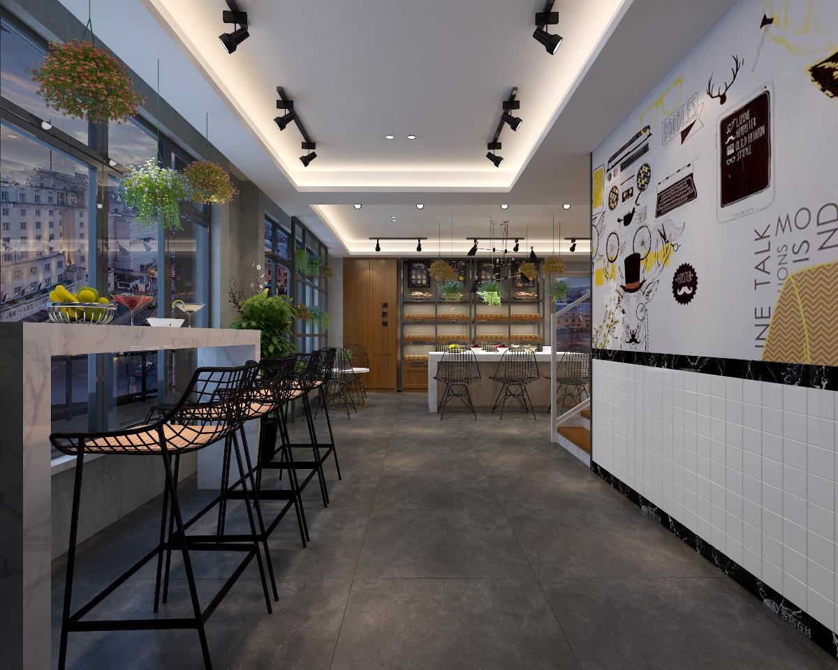 轻奢法式烘焙店装修设计|专业烘焙店设计|成都烘焙店甜品店设计案例